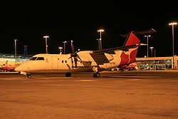 QantasLink (Eastern Australia Airlines) VH-TQG Dash 8 ( DHC-8 201) at Sydney Airport.jpg