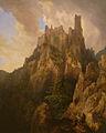 Quaglio Domenico-Vue du château de Saint-Ulrich à Ribeauvillé en Alsace.jpg