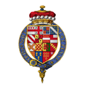 Quartered arms of Sir Walter Devereux, 2nd Viscount Hereford, KG.png