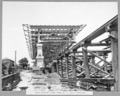 Queensland State Archives 3481 South approach steel spans 1 2 and 3 completed Brisbane 29 January 1937.png