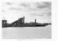 Queensland State Archives 4080 Dredges Brisbane River c 1949.png