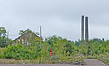 Quincy Mining Company Historic District 2009 Machine Shop and Smokestacks.jpg