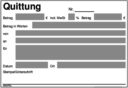 Quittung - Wikiwand