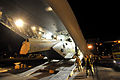 RAF Merlin Helicopter Loaded onto Globemaster MOD 45150442.jpg