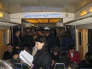 RER B - Inside an RER B.