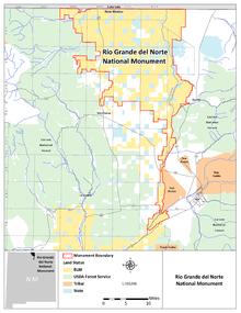 Rio Grande River New Mexico Map.Rio Grande Del Norte National Monument Wikipedia