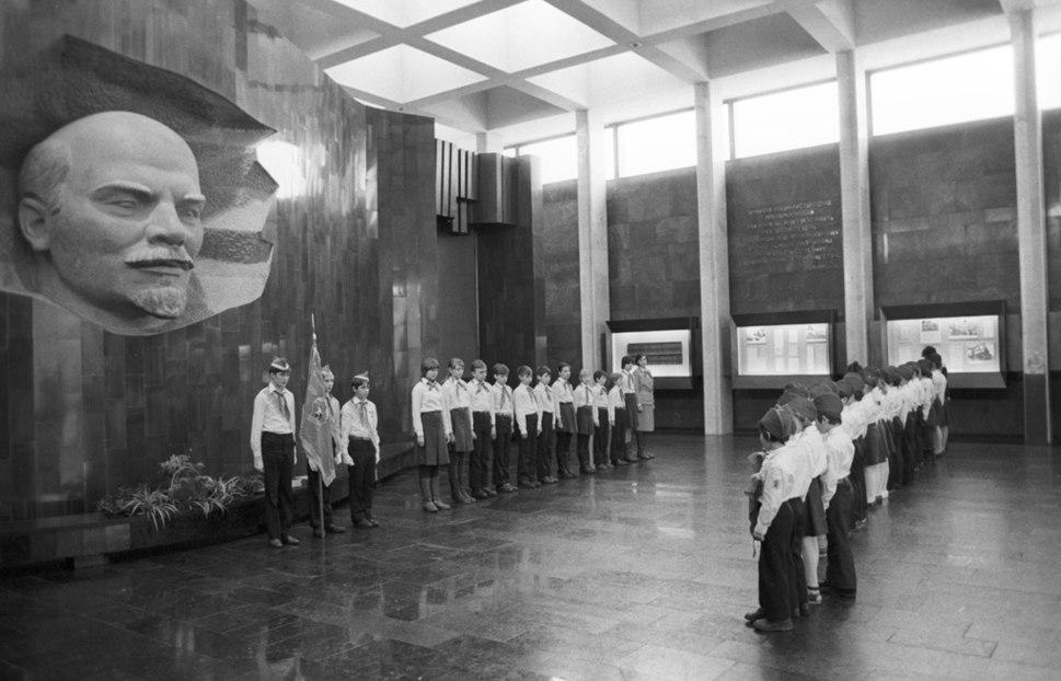 RIAN archive 761255 Pavilion-museum Vladimir Lenin%27s Funeral Train