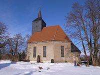 Raguhn-Kleckewitz, Wallstraße; Kirche St. Jakobus.jpg
