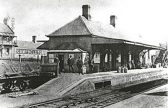 Campbelltown railway station - Historical view of the station
