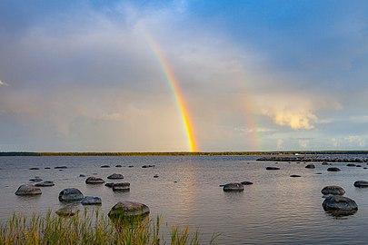 Rainbow over Baltic sea.jpg