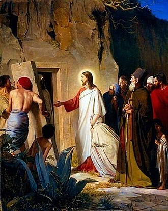 Lazarus of Bethany - Raising Lazarus, Oil on Copper Plate, 1875, Carl Heinrich Bloch (Hope Gallery, Salt Lake City)