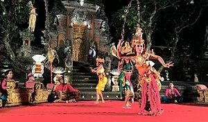 Ramayana Ballet - Balinese Ramayana dance drama, performed in Sarasvati Garden in Ubud.