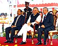 Rao Inderjit Singh at the Closing Ceremony of NCC National Games 2015, at DGNCC Garrison Parade Ground, in New Delhi on October 17, 2015. The Chief of the Air Staff, Air Chief Marshal Arup Raha is also seen.jpg