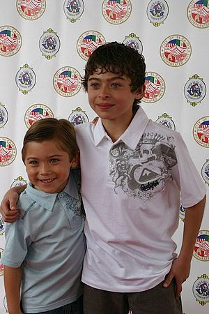 Ryan Ochoa - Ryan Ochoa (right) and his brother Raymond at the 62nd Annual Mother Goose Parade in San Diego County, California in 2008