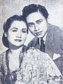 Rd Mochtar and his wife Sukarsih Dunia Film 15 May 1955 p4.jpg