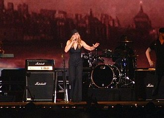 "Don't Tell Me (Madonna song) - Madonna performing an acoustic version of ""Don't Tell Me"" during the Re-Invention World Tour (2004)."