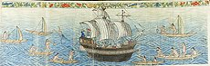 Reception of the Manila Galleon by the Chamorro in the Ladrones Islands, ca. 1590