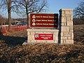Red Bridge Marker Three at 3 Trails Corridor (4319d549c3554711b503fcdcf4886530).JPG