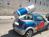 Red Bull Mini Faltdach Cabrio (rear) Kroatien.JPG