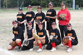 English: Redwings' Rennes Softball team França...