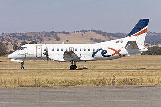 Regional Express Airlines - Saab 340B aircraft at Wagga Wagga Airport