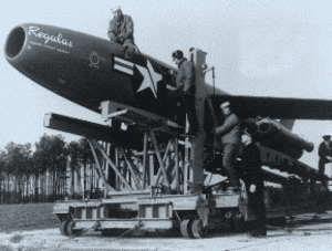 Rocket mail - The rocket launched SSM-N-8 Regulus cruise missile was used for one attempt to deliver mail