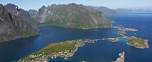 Thor: The Dark World - Photo of the Lofoten islands off the coast of Norway, taken in July 2008.