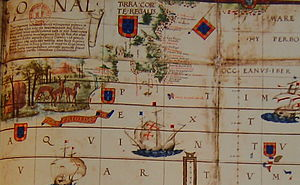 Evolution of the Portuguese Empire - From Reinel-Lopo Homem Atlantic chart of 1519.