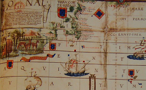 The Portuguese mapped and claimed Canada in 1499 and 1500s Reinel Reinel LopoHomem 1519.JPG