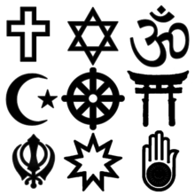 Symbols of all major religions
