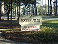 Remington Park Thomasville, soccer park sign.JPG