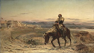 First Anglo-Afghan War - Remnants of an Army by Elizabeth Butler depicting the arrival of assistant surgeon, William Brydon, at Jalalabad on 13 January 1842.