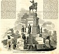 Representation of the equestrian statue of Washington, at Richmond, Virginia (17118519819).jpg