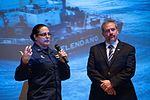 Retired Lt. Cmdr. David Neel speaks to Air Station Kodiak about the Selendang Ayu 141219-G-GW487-003.jpg
