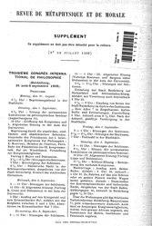 Revue de métaphysique et de morale, supplément 4, 1908