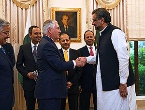 Shahid Khaqan Abbasi - Abassi hosting Secretary Tillerson in Islamabad in October 2017