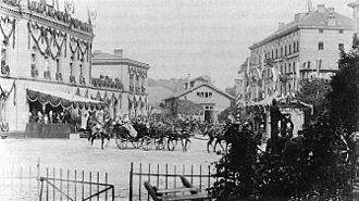 Koblenz Hauptbahnhof - Arrival of Emperor Wilhelm II at the Rhenish station in 1893