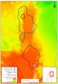 Rhinopoma microphyllum roaming regions in Northern Israel, Levin et al 2013.png