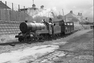 "Rhyl Miniature Railway - ""Michael"" with a short train in 1978."