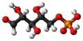 Ribose 5-phosphate molecule ball.png