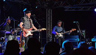 Richard Thompson (musician) - The Richard Thompson Electric Trio (with Michael Jerome and Taras Prodaniuk) at Towersey Festival, 2018