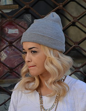 "Rita Ora - Ora in Pristina, Kosovo during the filming of the ""Shine Ya Light"" music video in September 2012"