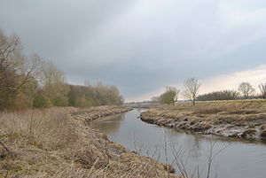 Bank Hall Estate - Image: River Douglas, Bretherton Feb 2010