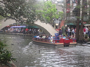 San Antonio River Walk - The River Walk across from the Rainforest Cafe