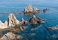 Rocks in the sea, Cabo de Gata, Andalusia, Spain.jpg