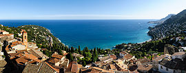 The old village, the cape and the bay of Roquebrune