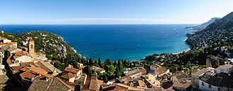 Roquebrune-Cap-Martin - The old village, the cape and the bay of Roquebrune