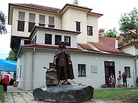 Memorial house with a sculpture of Francis II Rákóczi