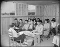Rohwer Relocation Center, McGehee, Arkansas. Miss Elaine Simpson, teacher. The Latin Class, 10-A. - NARA - 538950.tif