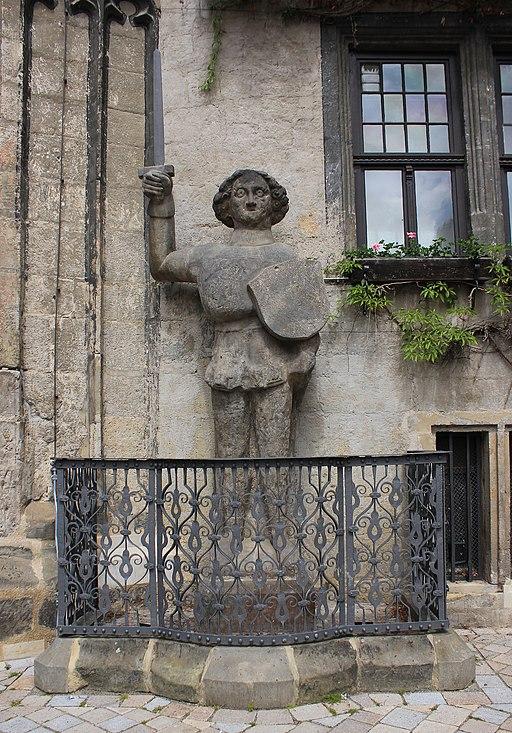 Roland- Statue am Rathaus in Quedlinburg. IMG 1284WI